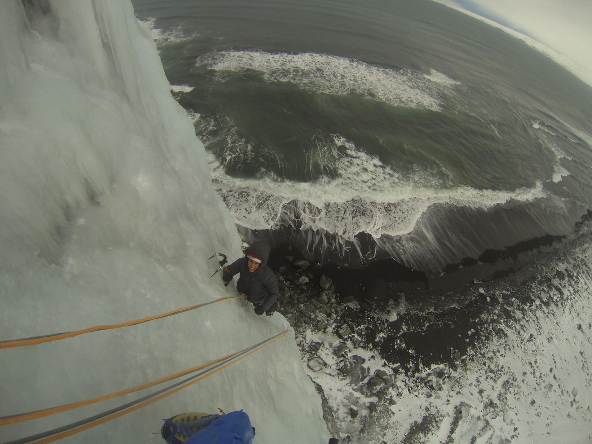 grimpe glace islande